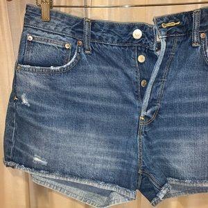 Zara Button Up Jean Shorts